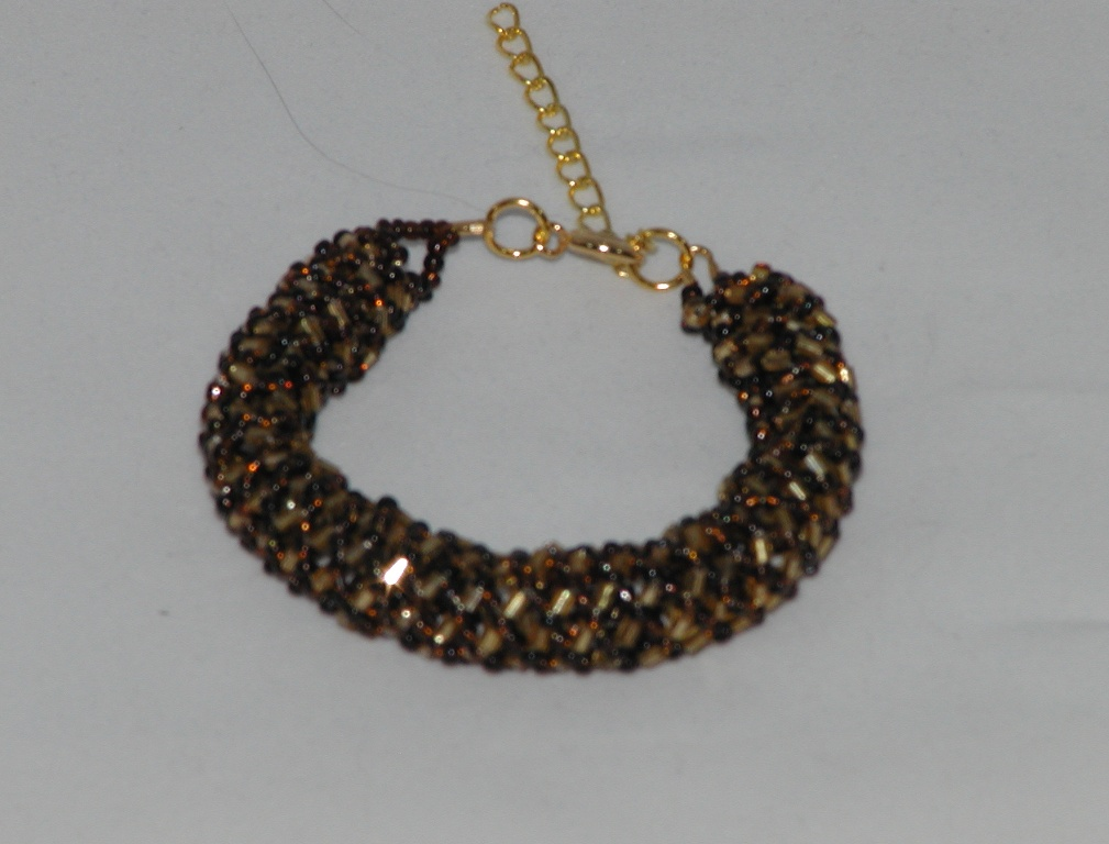 Brown Gold Russian Spiral Bracelet
