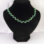 A1009 - Green Seed Beads Necklace