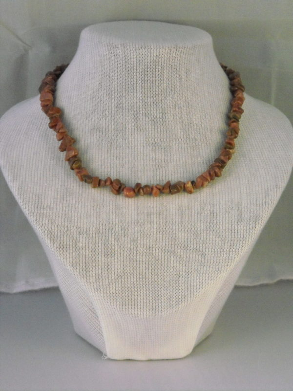 A1012 - Rhodonite Chips Necklace