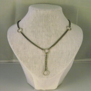A1023 - Tibetan Silver Rings with Chain Necklace