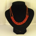 A1024 - Netted Burgundy seed bead Necklace