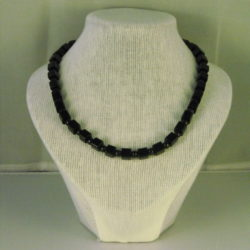 A1028 - Black Plastic Cubes and Round Beads