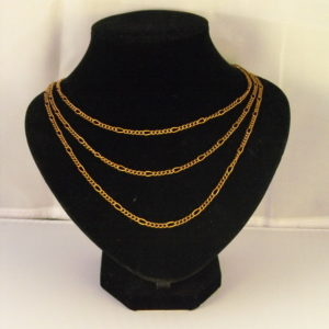 A1030 - Triple Strand Copper Chain Necklace