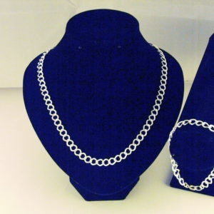 C0015 - Chunky Embossed Silver Curb Chain