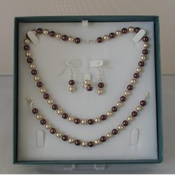 D0003 - Chocolate & Cream Pearls 4 Piece Set