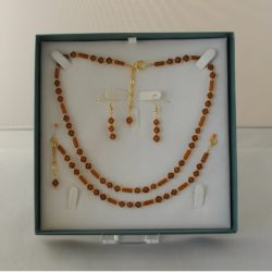 D0018 - Amber Glass 3 Piece Set