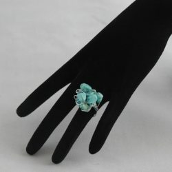 H0002 Silver Wire Wrapped Turquoise Ring