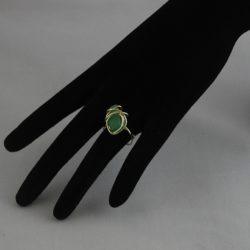 H0015 Small Champagne Wire Wrapped Aventurine Ring