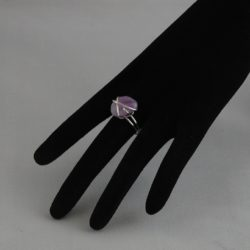 H0016 Silver Wire Wrapped Amethyst Ring