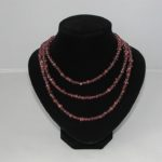 A1034 - Brown Sparkle Three Strand Necklace