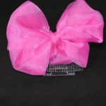 FAS001 – Large Pink Bow on Comb