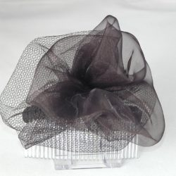 FAS003 - Black Net Ruffle on Comb