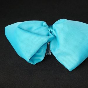 FAS005 - Large Turquoise Bow on Comb
