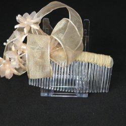 FAS006 - Pale Coffee Loops with Flowers on Comb