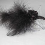 FAS008 - Black Feathers on Comb
