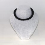 Black Chenille Kumihimo Necklace