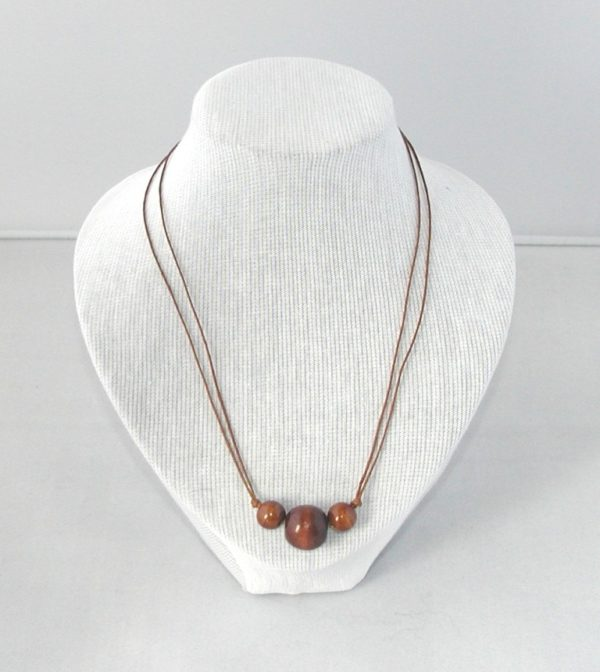 Brown Cord with Brown Beads MEN002