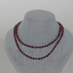 Long Brown Bi-cone Bead Necklace