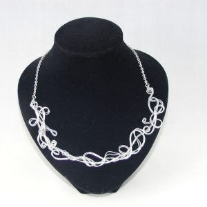 Silver Wire Work Necklace