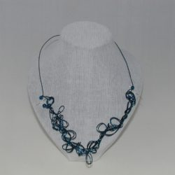 Blue Wire Work Necklace