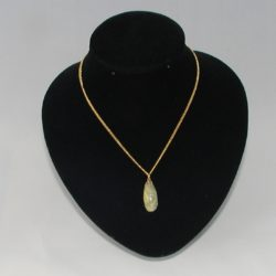 Beige Mottled Clay Pendant