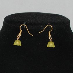 Yellow Flower Ear Rings
