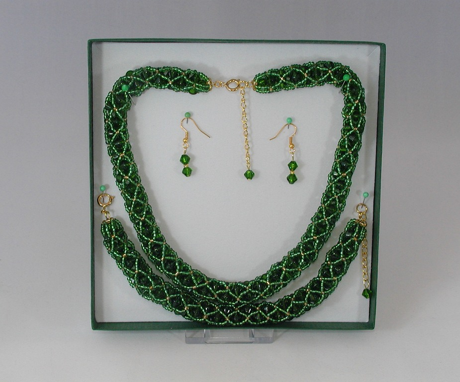Emerald Netted 3 Piece Set