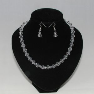 Crystal Rondelles Necklace Ear Rings