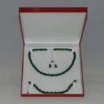Real Emerald Jet Swarovski Three Piece Set