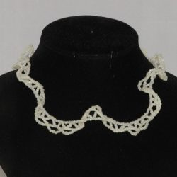 Cream Seed Bead Choker Necklace