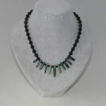 Black Pearls Ruby Zoisite Necklace
