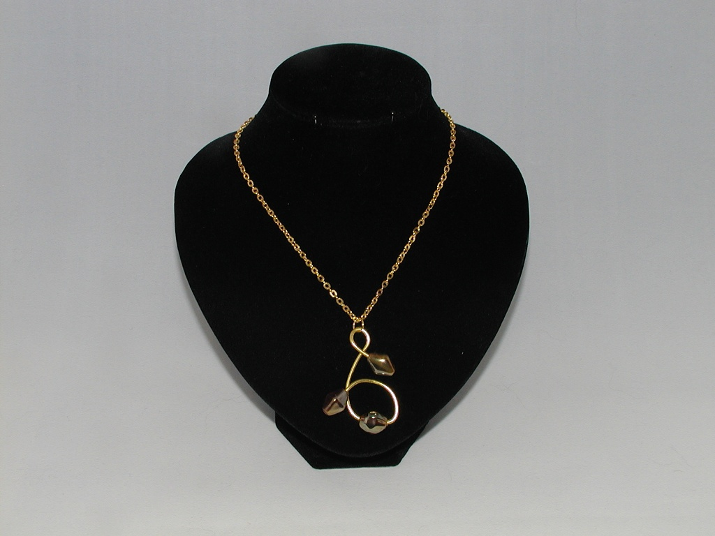 Gold Wire Gold Bead Necklace