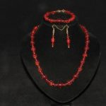 Red Indian Glass Three Piece Set
