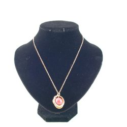 Gold Wire Wrapped Pearl Pendant Necklace