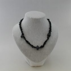 Black Stone Chip Necklace