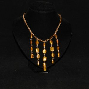 Amber Glass Dangles Necklace
