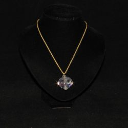 Crystal Sphere Pendant Necklace