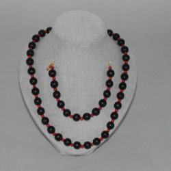 Black Wooden Beads Red Wooden Beads Necklace Bracelet