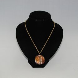Brown Acrylic Pendant Necklace