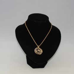 Gold Silver Wire Ball Necklace