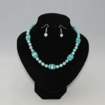 Blue Indian Glass Malay Jade Necklace Ear Rings