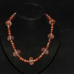 Amber Crystal Mixed Bead Necklace
