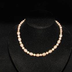 Beige Indian Glass Bead Necklace
