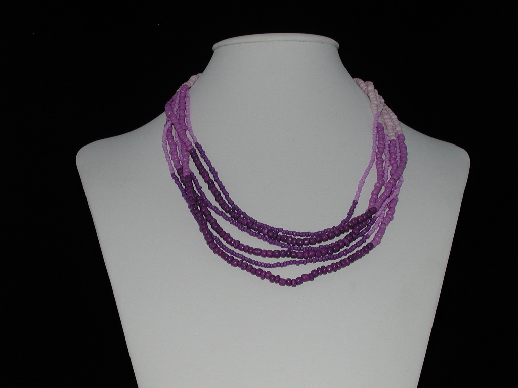 Lilac Shades Six Strand Necklace
