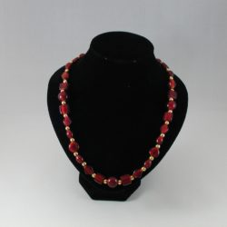 Mixed Red Indian Glass Beads Necklace