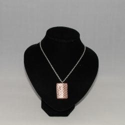 Brown Silver Dotted Acrylic Pendant Necklace