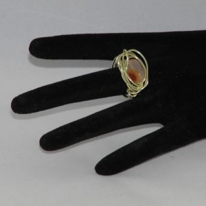 Gold Wire Wrapped Onyx Ring