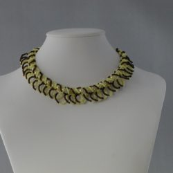 Cream Pearls Chocolate Seed Beads Looped Necklace