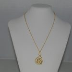 Abstract Circles Gold Chain Pendant Necklace