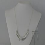Silver Chain Dangles Necklace Ear Rings